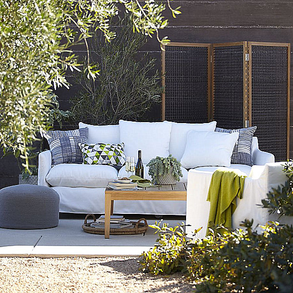 Outdoor seating from Crate & Barrel
