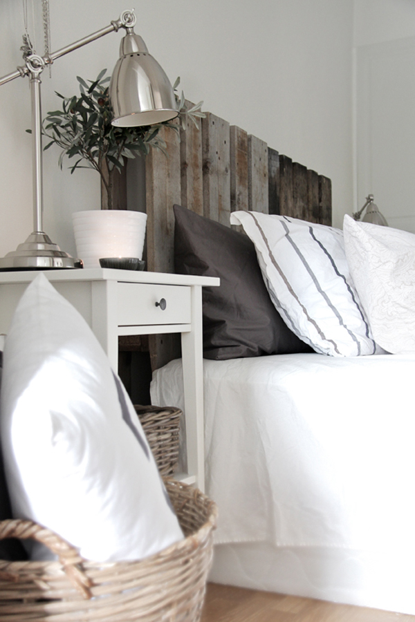 Palette wood headboard