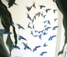 Paper bird wall art