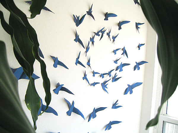 View In Gallery Paper Bird Wall Art