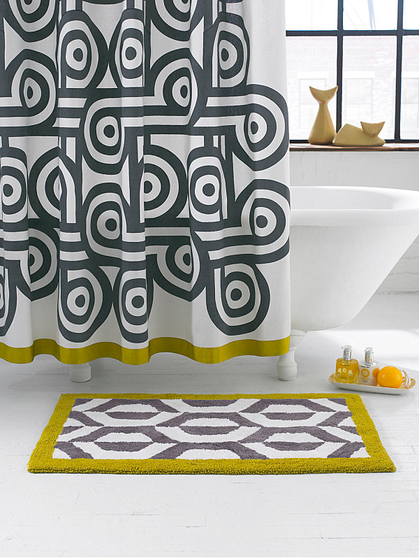 Patterned Jonathan Adler shower curtain