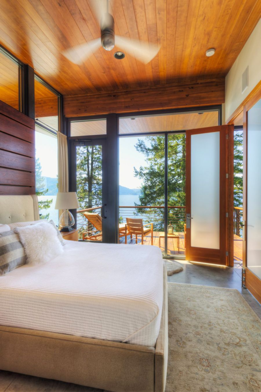 Plush bedroom with a lovely view