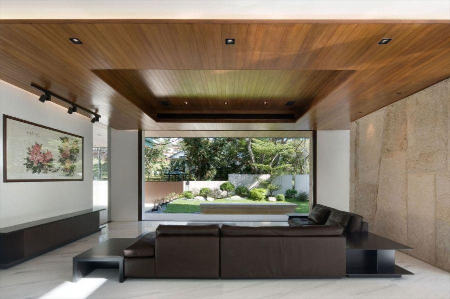 Plush decor and large glass windows