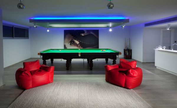 view in gallery plush seating and bright neon lights are ideal fits for the game gameroom lighting