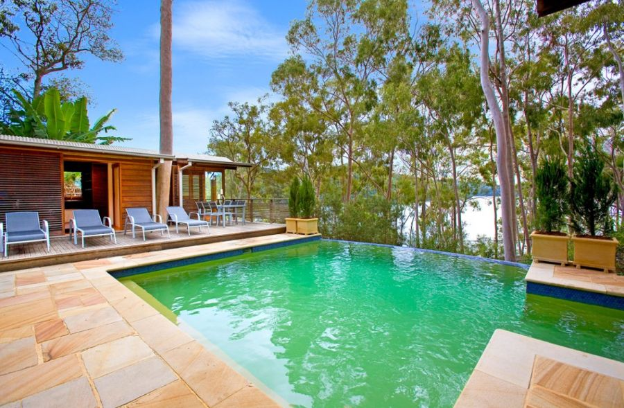 Pool with a view at the Treetops Home Treetops Home By Bruce Rickard Blends Rustic Elements With Modern Design