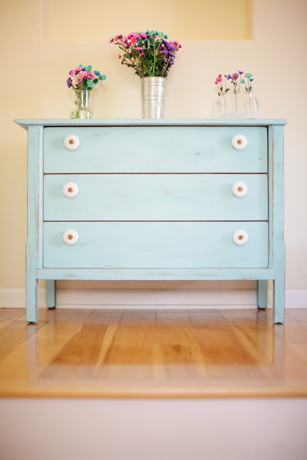 Powder blue shabby chic dresser