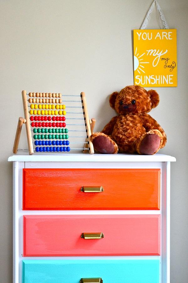 Rainbow dresser DIY