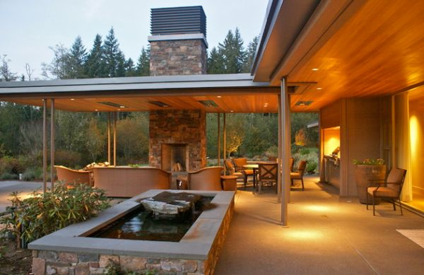 Natural inspiration koi pond design ideas for a rich and for Fireplace on raised deck