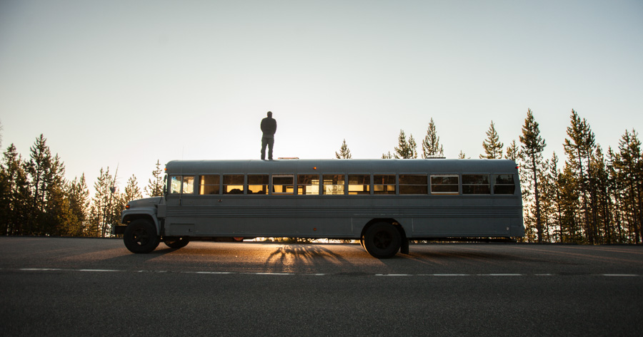 Renovated Bus Mobile Home allows you to travel with comfort