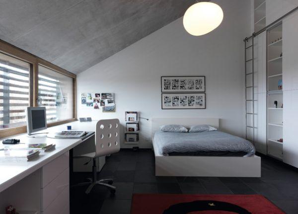 Scandinavian styled attic bedroom