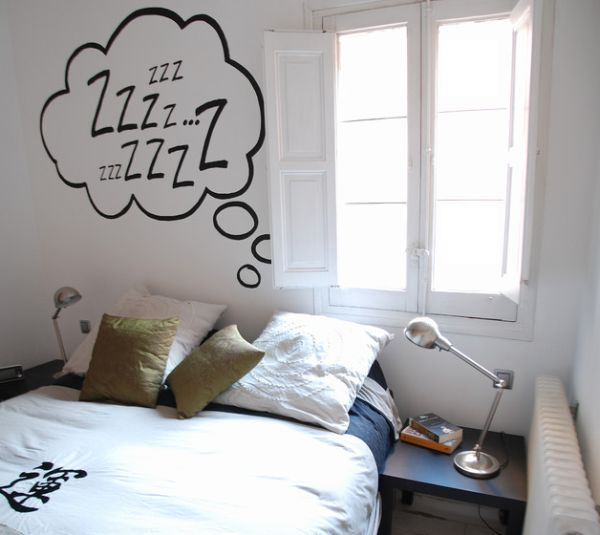 Simple wall decal does the trick here