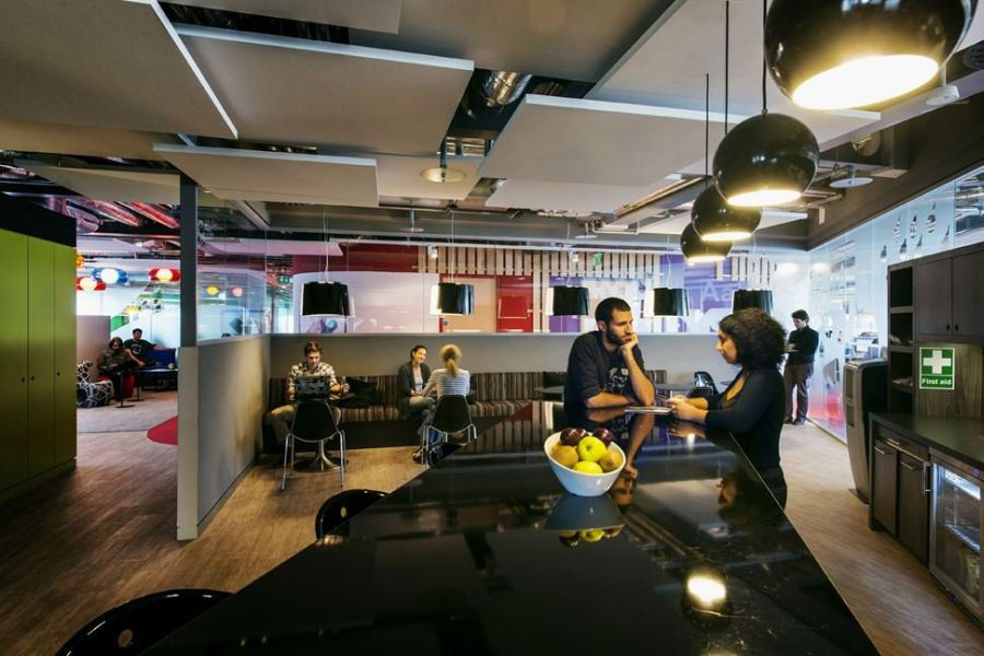Sleek kitchen areas inside the Google Dublin Campus
