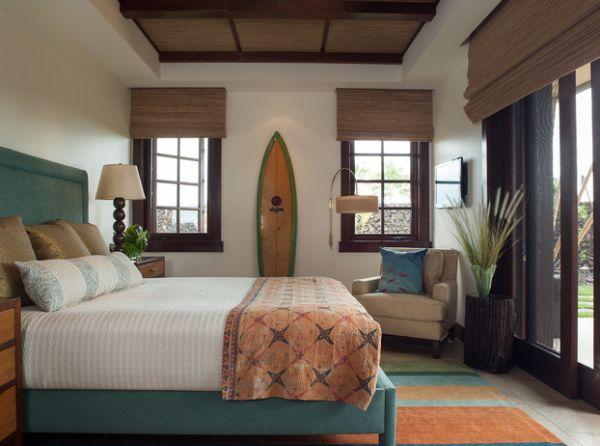 Sleek surfboard makes a beautiful decor item