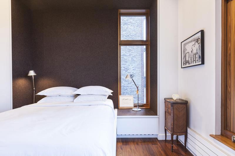 Smart lighting next to the bedroom