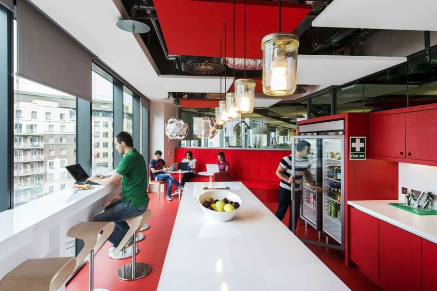 View In Gallery Smartly Designed Cafeteria At The Google Campus