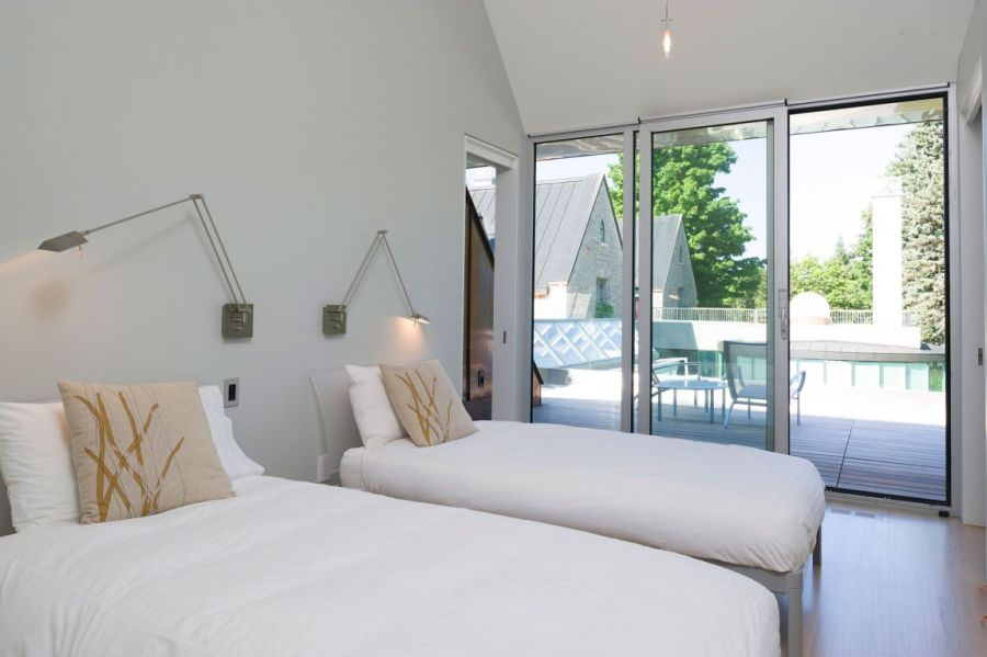 Space saving lighting solutions above the beds