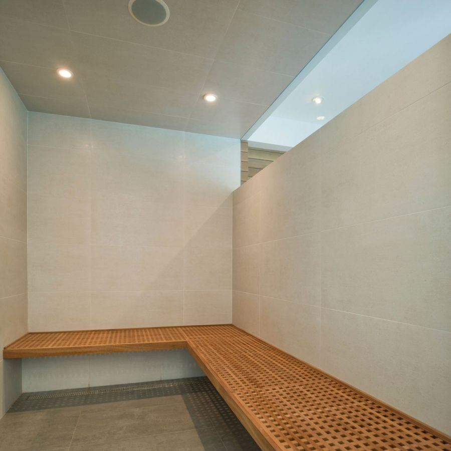 Steam room at the 299 Soper Place