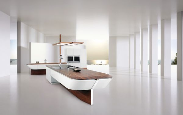 Stunning minimalist kitchen counter for the die-hard sailors!