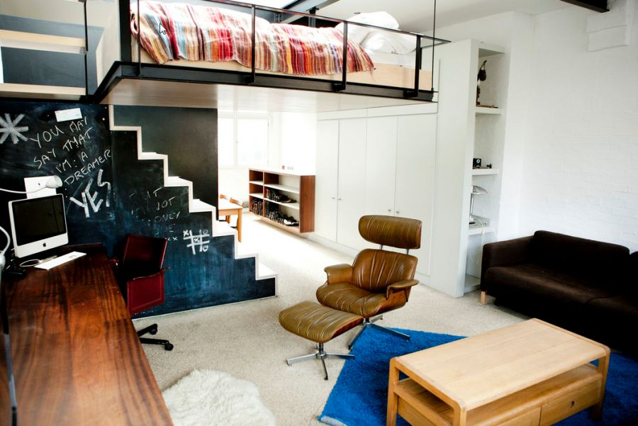Stylish Eames Lounger in the living space