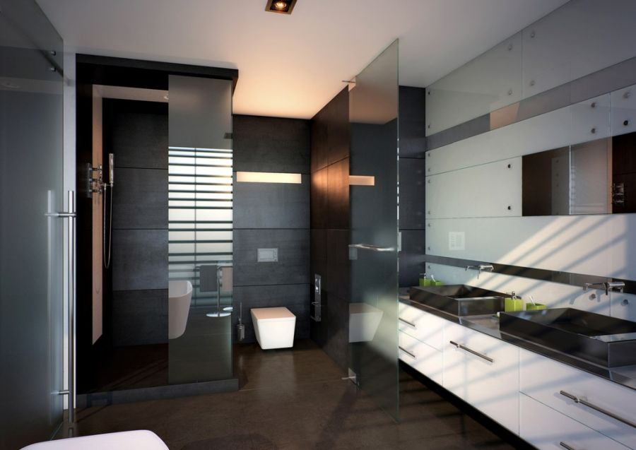 Stylish contemporary bathroom