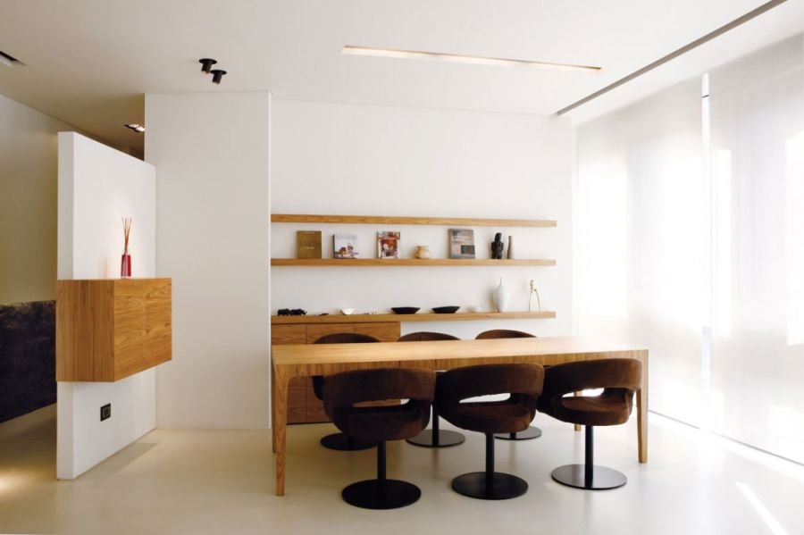 Stylish floating shelves