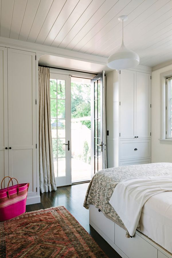 Stylish lighting fixtures in the bedroom