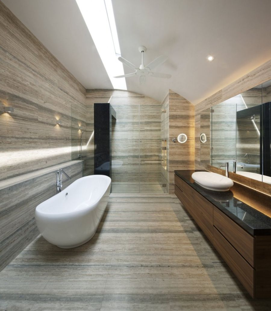 Stylish modern bathroom in the Wind Vault House