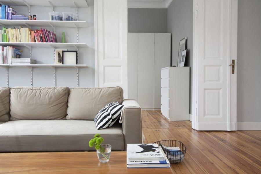 Stylish pine flooring