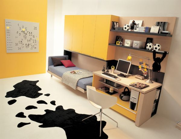 Stylish space-saving addition to the kids' bedroom