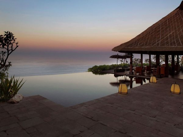 Sunset at the Bulgari Resort and Spa in Bali