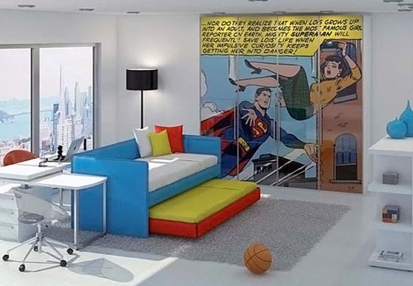 Superman flies in to make a great save on your kids' bedroom wall!