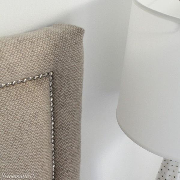 Tan upholstered headboard DIY