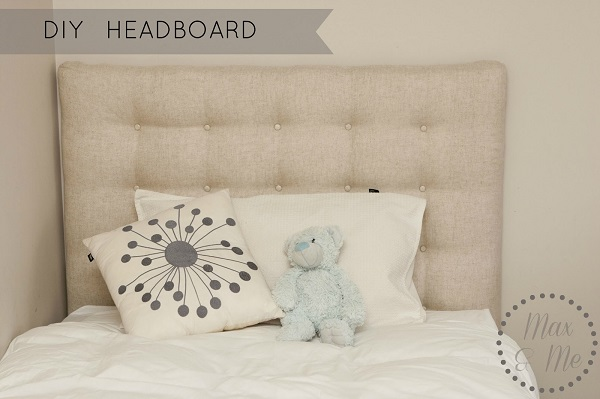 View In Gallery Tufted Linen Headboard