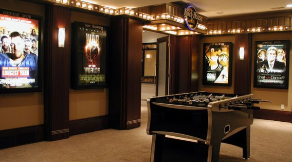 Turn a corner in the home theater into gaming area