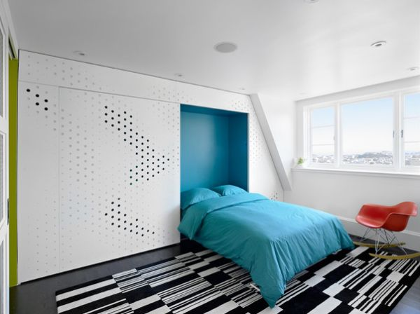 Turned into a chic and trendy bedroom!