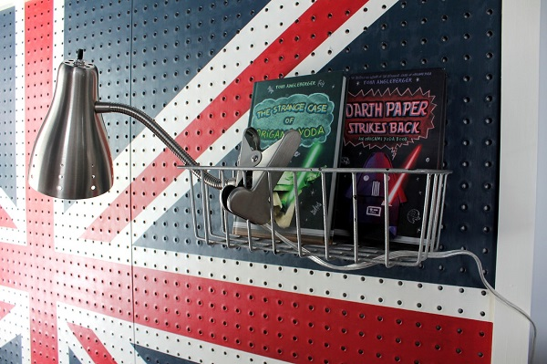 Union jack pegboard headboard