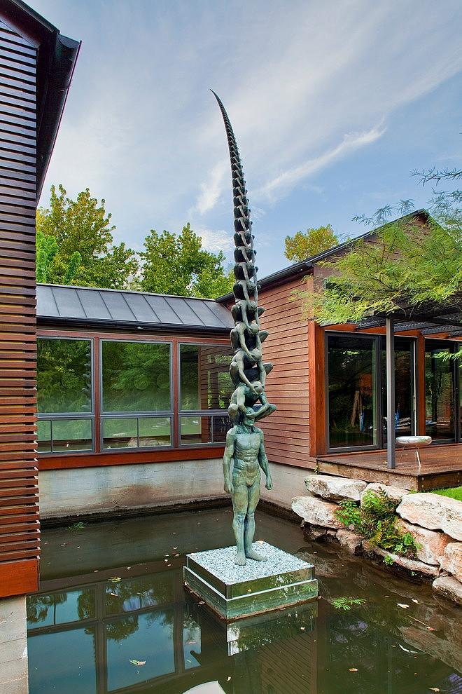 Unique sculpture in the garden