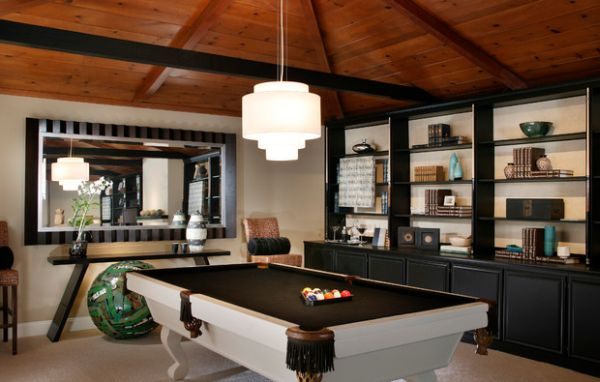 Game Room Design Ideas 10 game room must haves View In Gallery Use A Mirror To Create More Visual Space In The Game Room
