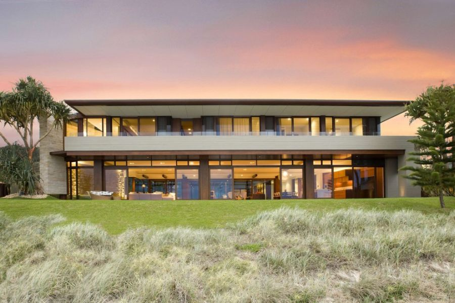 View of the Albatross Residence from the ocean Luxurious Queensland Beach Residence Offers Dramatic Ocean Views