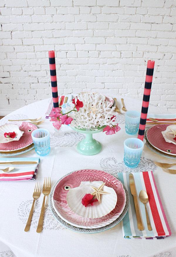 Vintage sea-themed tabletop