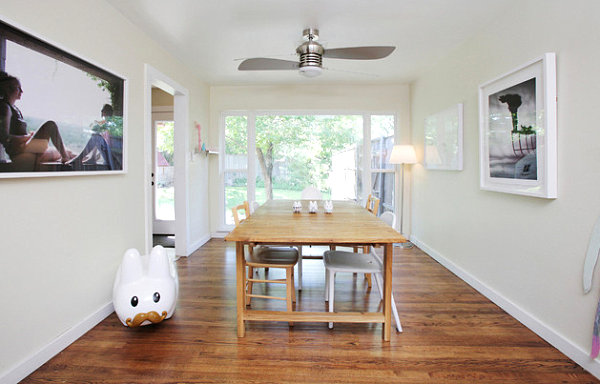 Vinyl toy style in a contemporary dining space