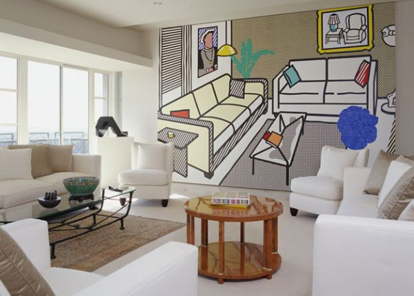 Virtual living room wall art creates more visual space!