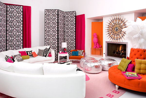 Vivid details in a space designed by Jonathan Adler
