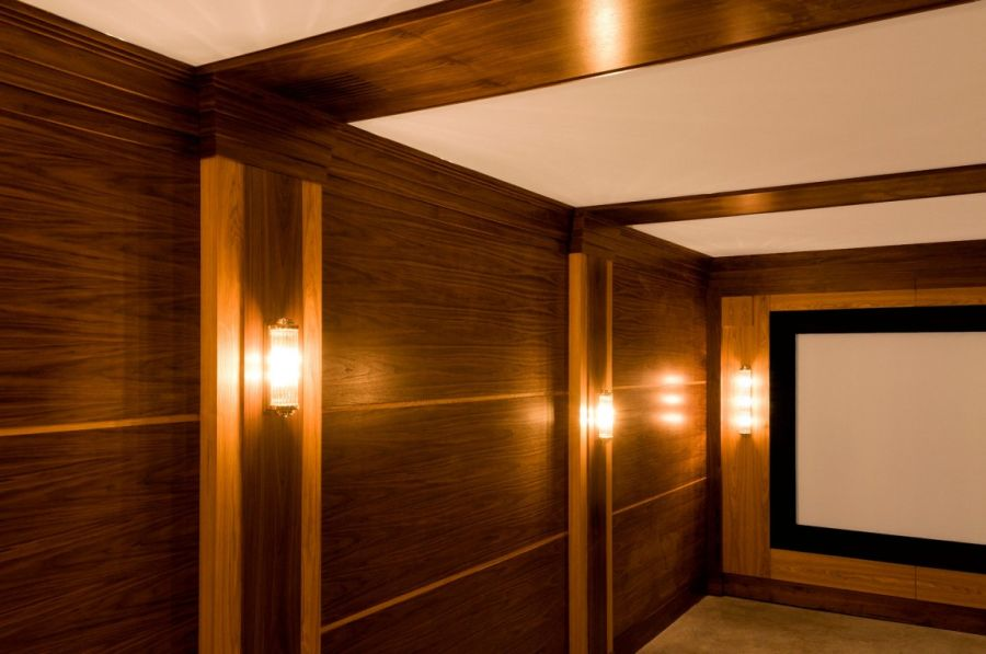 Warm wooden surfaces are laced throughout the home