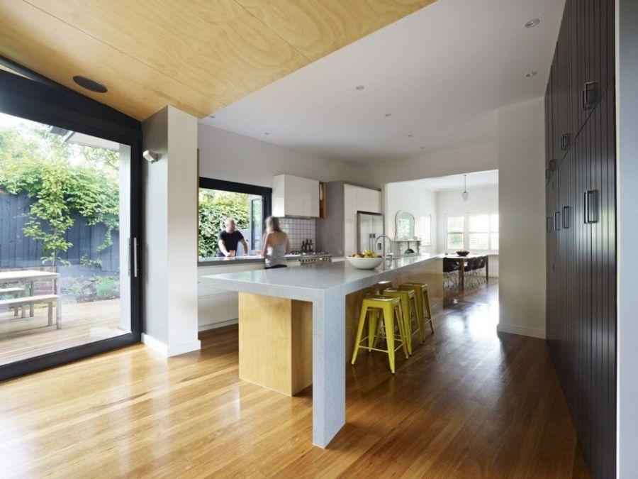 Window in kitchen offer beautiful views