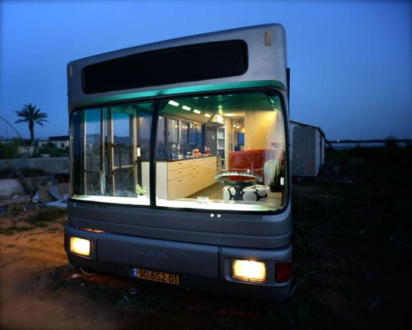 Beautiful Modern Home In Sharon, Israel Crafted From A Discarded Old Bus