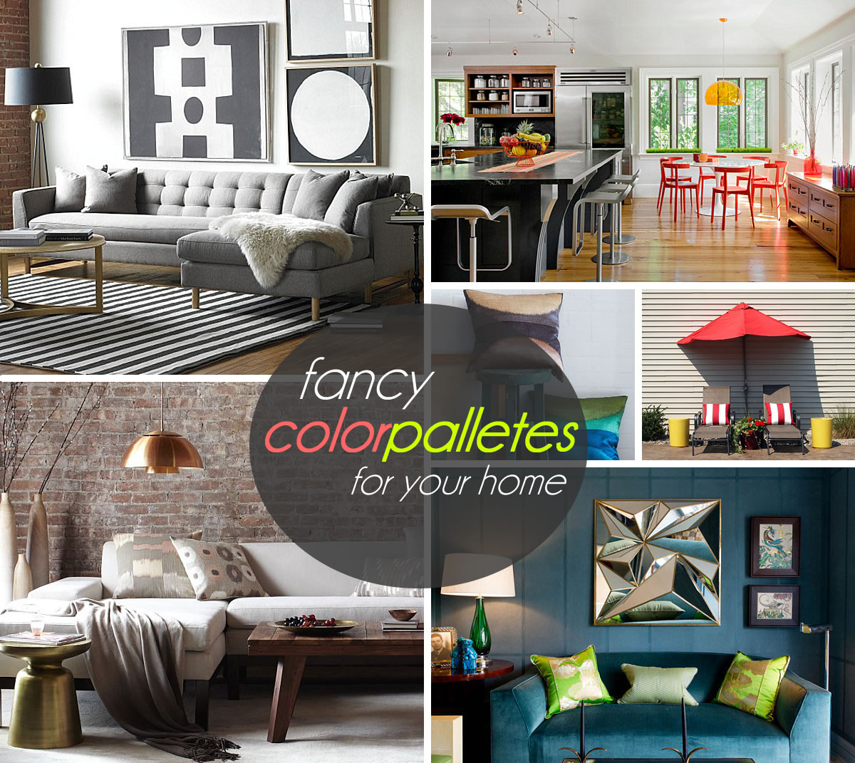 Three stunning color palettes for your interior for Color palettes for home interior