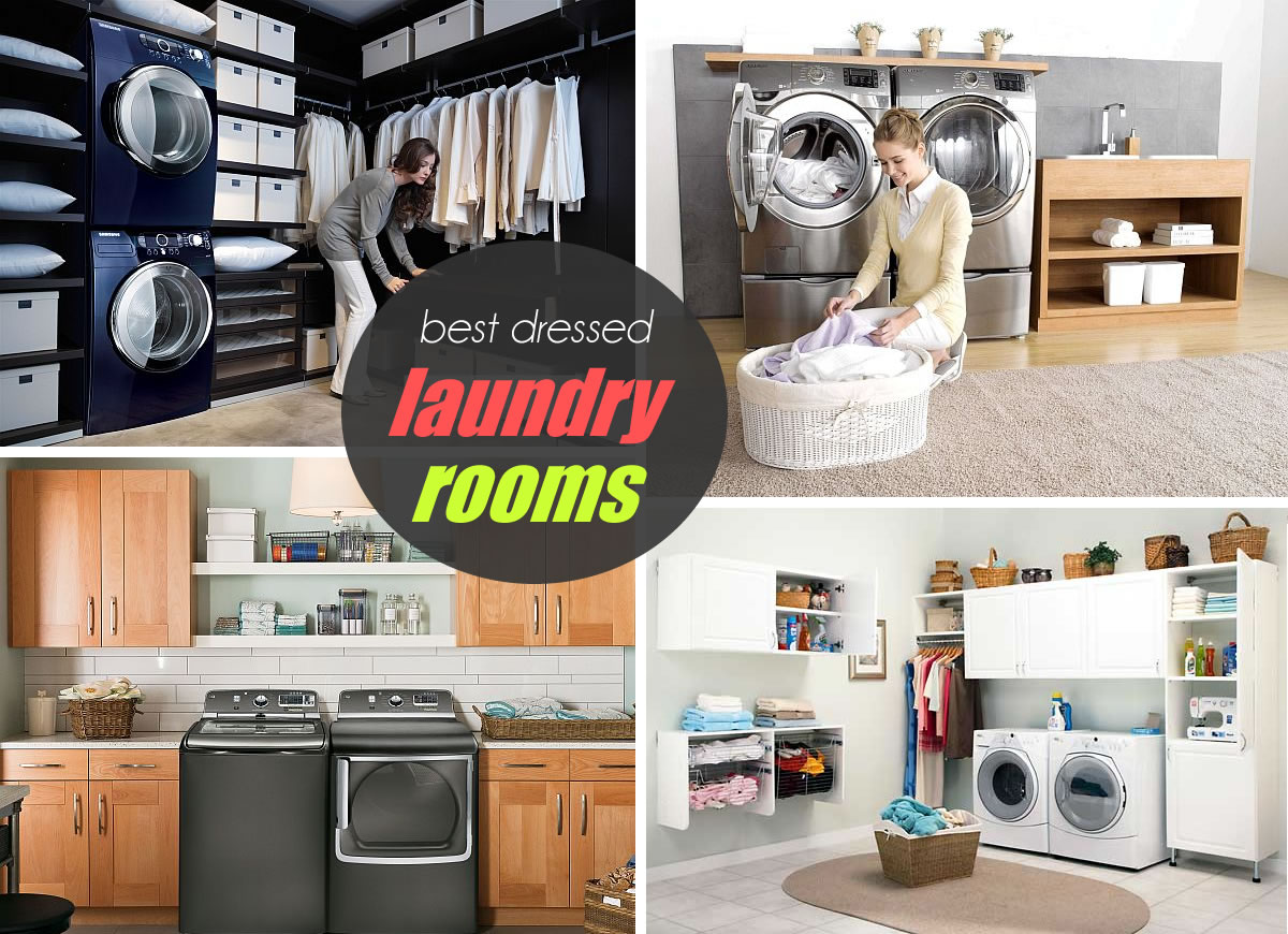 best dressed laundry room: judging together with samsung Best Laundry Rooms