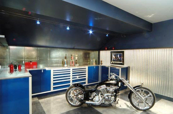 dream motorcycle garages park your ride in style at night rh decoist com