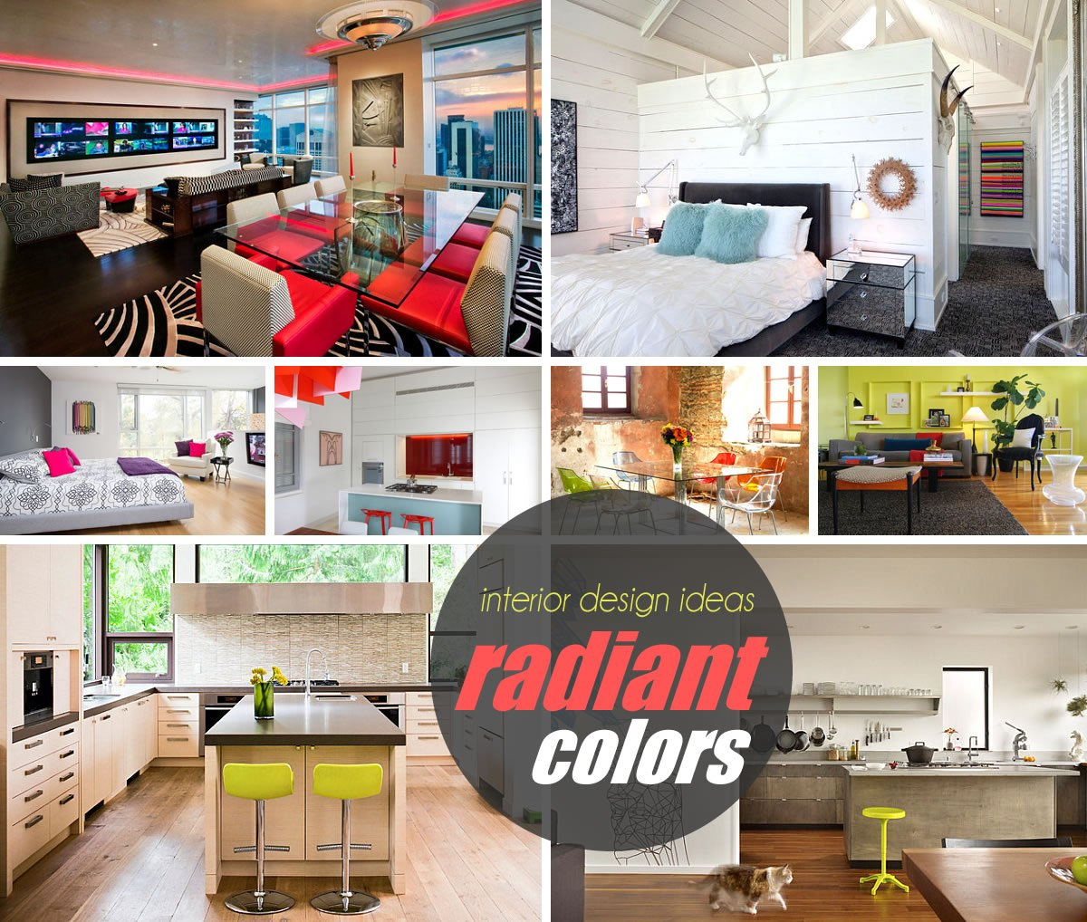 radiant colors home design 20 Spaces Featuring Radiant Color in Interior Design
